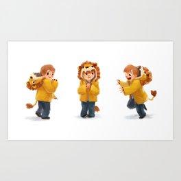 Beckam Lion Art Print