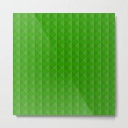 Emerald Triangle Pattern Metal Print