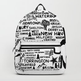 Connecticut Map  Backpack