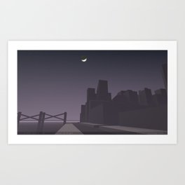 Stray Dogs 04  /  Cover of Night Art Print