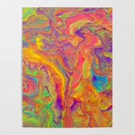 Unicorn psychedelic ice cream Poster