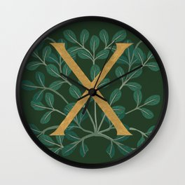 Forest Letter X 2018 Wall Clock