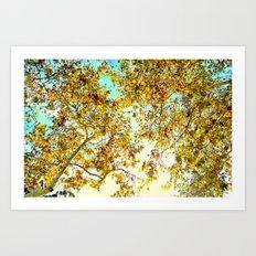 Autumn Umbrella Art Print