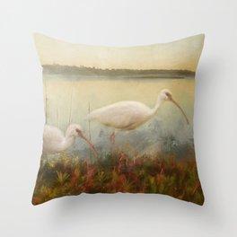 North Carolina Ibis Throw Pillow