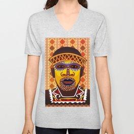 African Tribesman 2 Unisex V-Neck