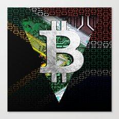 bitcoin South Africa Canvas Print