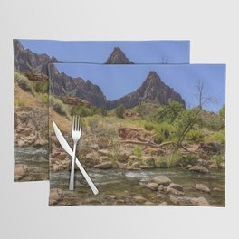 The Watchman & The Virgin 4756 - Zion National Park, Utah Placemat