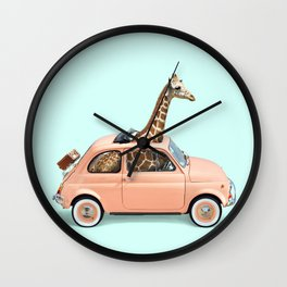 GIRAFFE CAR Wall Clock
