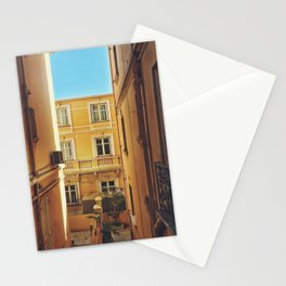Back alley on the streets of Monaco Stationery Cards