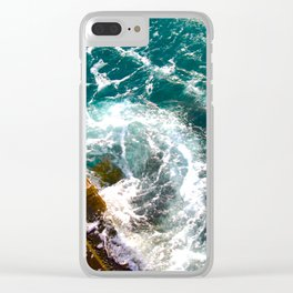 Wave Swirl Clear iPhone Case