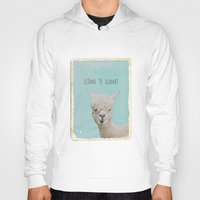 lama Hoodies featuring Lama by Monika Strigel