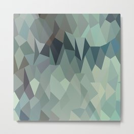 Egyptian Blue Terraces Abstract Low Polygon Background Metal Print