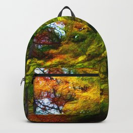 Fall Color Yard Full of Tree Branches Backpack