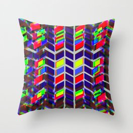 Contrasting Directions Throw Pillow