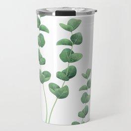 Eucalyptus polyanthemos leaves botanical illustration Travel Mug