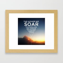 Soar. Framed Art Print