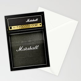 Gray amp amplifier Stationery Cards