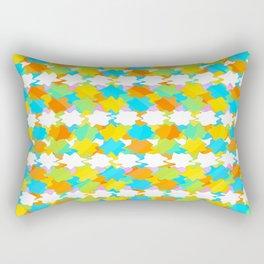 Octagons 2 - Gold and Green Rectangular Pillow