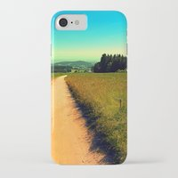 hiking iPhone & iPod Cases featuring Hiking on a hot afternoon by Patrick Jobst