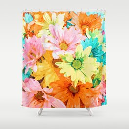 Simone #painting #floral Shower Curtain
