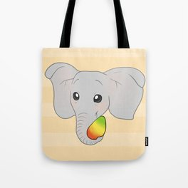 Mango Elephant Tote Bag