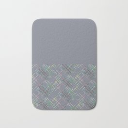Gray combined pattern. Bath Mat