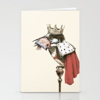 king Stationery Cards featuring King Fisher by Eric Fan