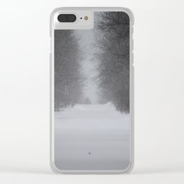 Unknown road Clear iPhone Case