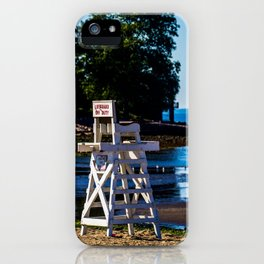 Life guard off duty - enjoy the beach iPhone Case