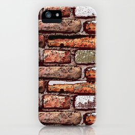 Red brick wall iPhone Case