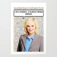 leslie knope Art Prints featuring Leslie Knope by Hannah
