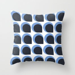 Blue Feathers Throw Pillow