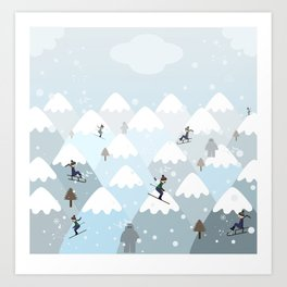 Winter mountains  Art Print
