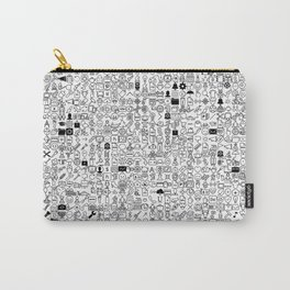 ICONS Overdrive, Black and White Carry-All Pouch