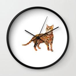 Cat, Animal Art, Orange Cat Print, Animal, Little Kitten, Kitten Art Wall Clock