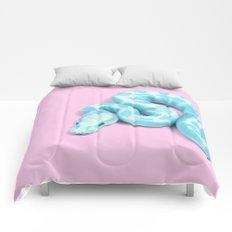 BLUE SNAKE Comforters