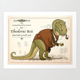 Gentleman Rex Art Print