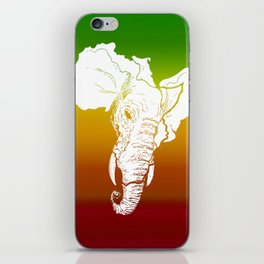 Rasta White African Elephant iPhone Skin