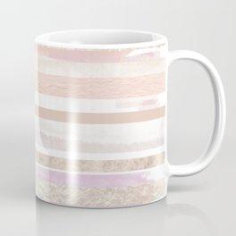 Gold and Pastel Stripes Coffee Mug