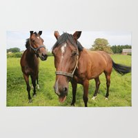 horses Area & Throw Rugs featuring horses by Falko Follert Art-FF77