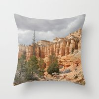 Bryce Canyon ~ Mossy Cave trail Throw Pillow