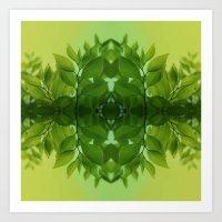 leaf Art Prints featuring Leaf by Cs025