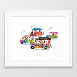 Philippine Jeepney Framed Art Print