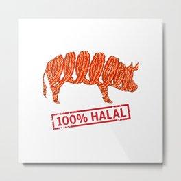 Halal Bacon - Islamophobia Metal Print