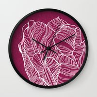 tulip Wall Clocks featuring Tulip by Annike
