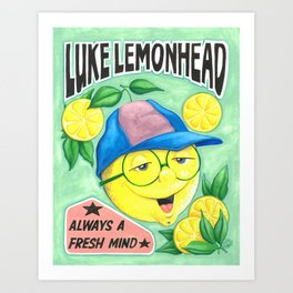 Luke Lemonhead Art Print