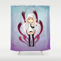 anxiety Shower Curtains featuring Anxiety by Freeminds