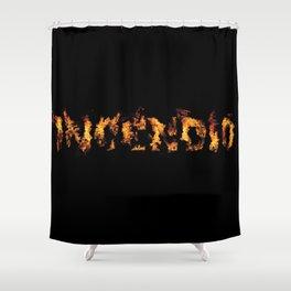Harry Potter Incantation Collection : Incendio Shower Curtain