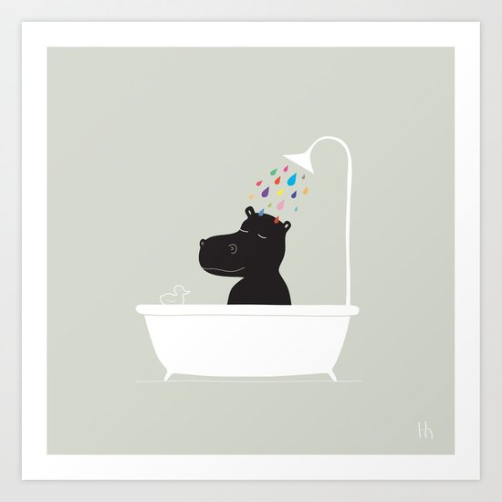 The Happy Shower Art Print