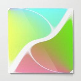 Color Swirled Metal Print